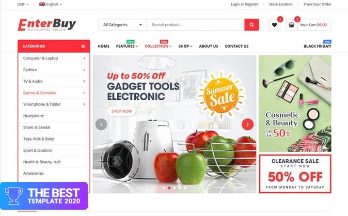 EnterBuy - Premium Responsive BigCommerce Theme - digital products award