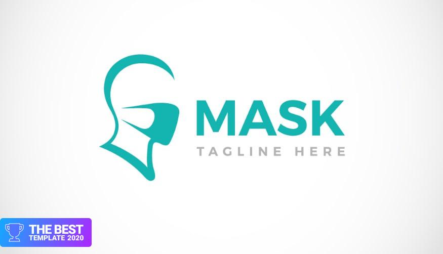 Face Protection Facial Mask Design Logo Template.
