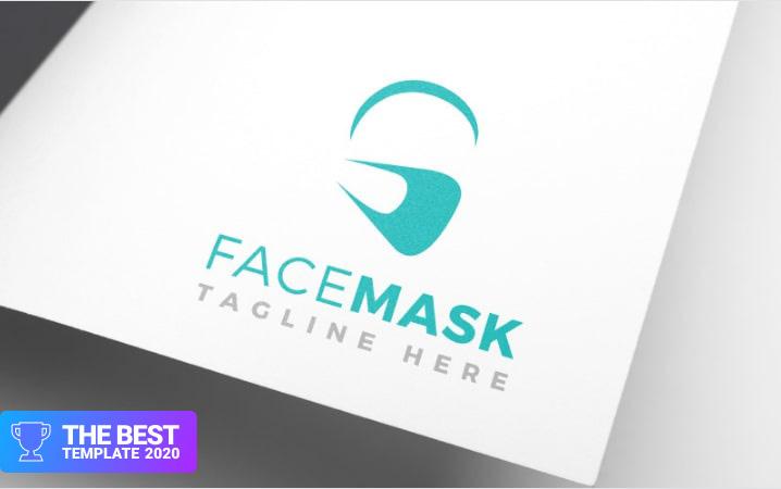 Facial Mask Design Logo Template.