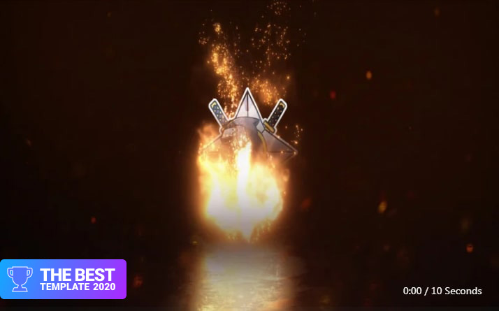 Gaming Fire Logo Reveal After Effects Template.