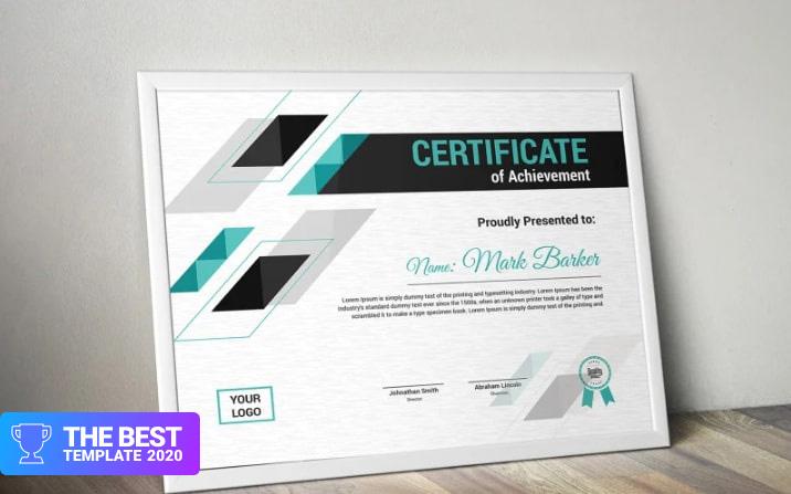 Geometric Certificate Template  - digital products award