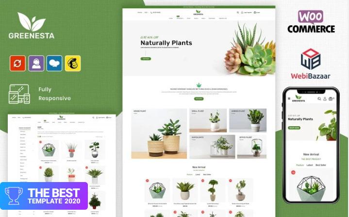 Greenesta Organic - Food & Grocery Store OpenCart Template.