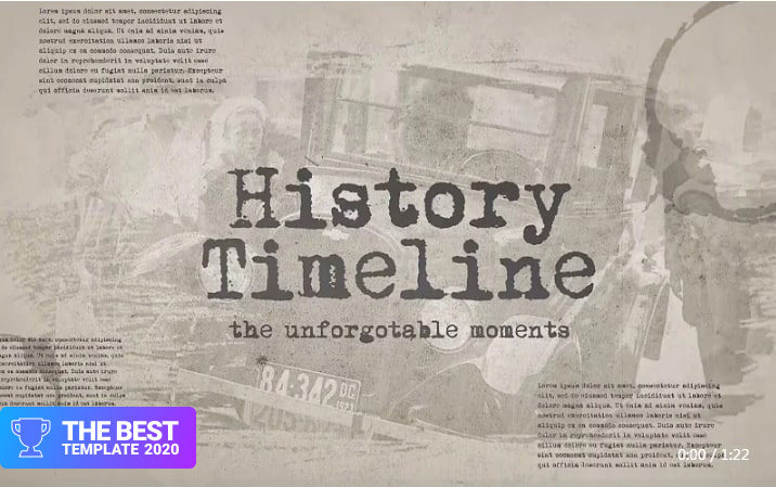 History Timeline Premiere Pro Template best digital products