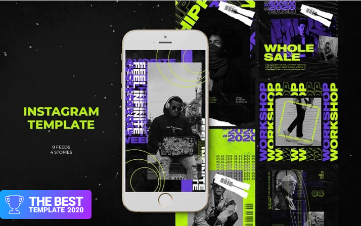 Infinite Instagram Templates Social Media - digital products award