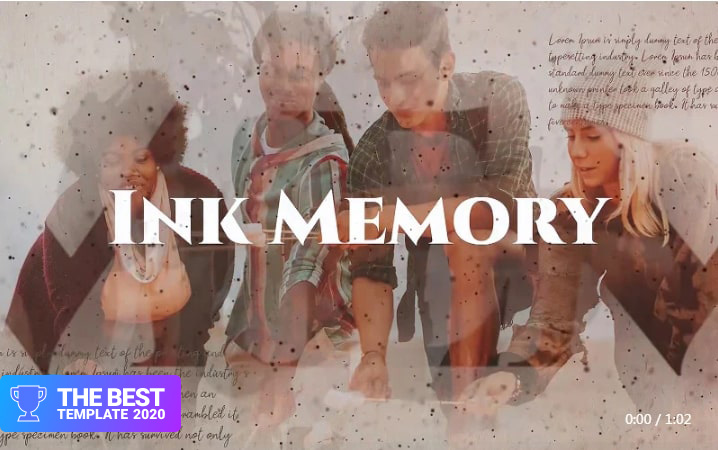 Ink Memory Premiere Pro Template best digital products