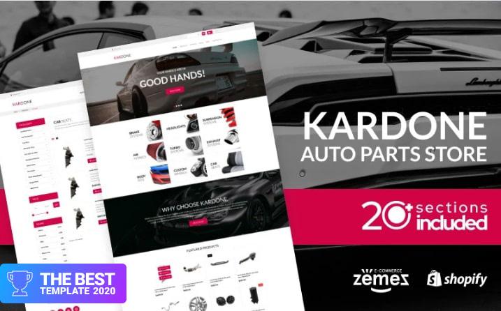 Kardone Auto Parts Store Template Shopify Theme.