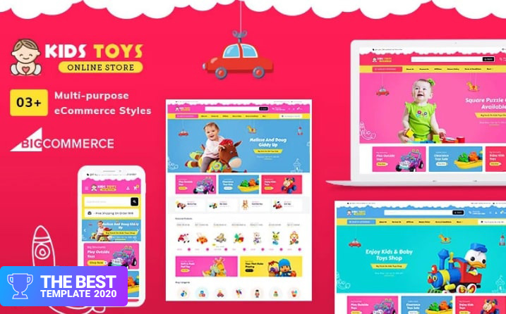 Kid's Toy Stencil Multi-Purpose Responsive BigCommerce Theme - digital products award