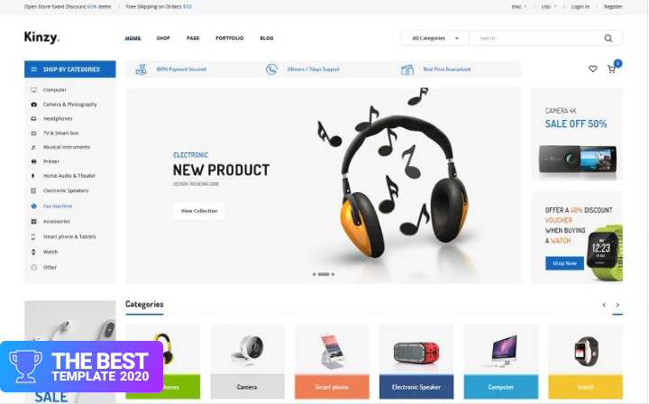 Kinzy - Electronics Multi Shopify Theme Shopify Theme.