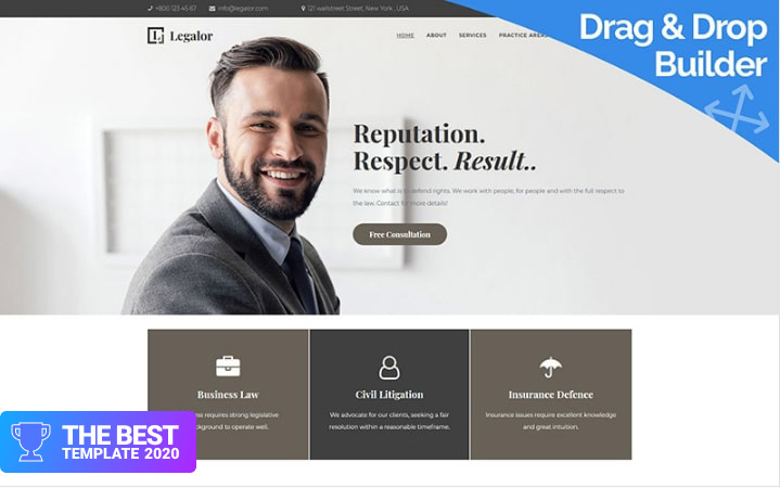 Legalor - Lawyer Moto CMS 3 Template - digital products award