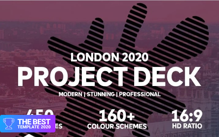 London 2020 Project PowerPoint Template.