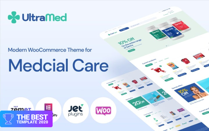 MedCare - Soft and Responsive Pharmacy WooCommerce Theme best digital products