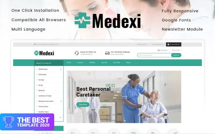 Medexi - Medical Store OpenCart Template.