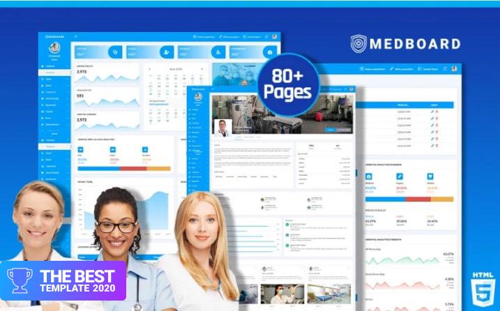 Medical HTML5   Medboard Admin Template.