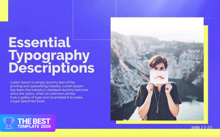 Minimal Portfolio Display Premiere Pro Template best digital products
