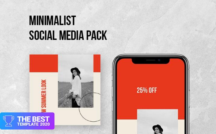 Minimalist Social Pack Social Media - digital products award