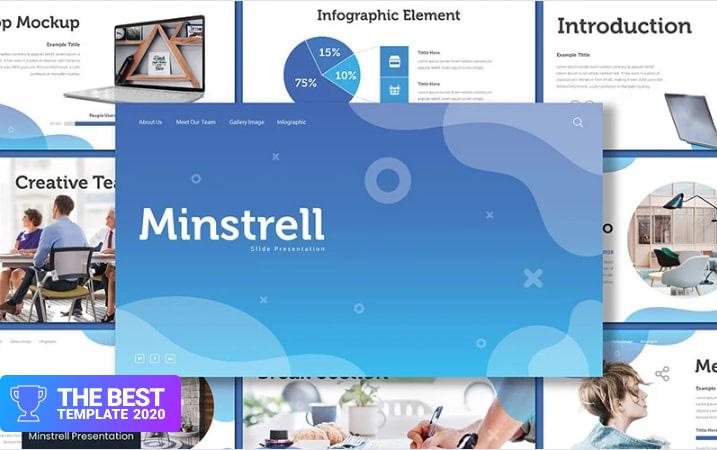 Minstrell Keynote Template - digital products award