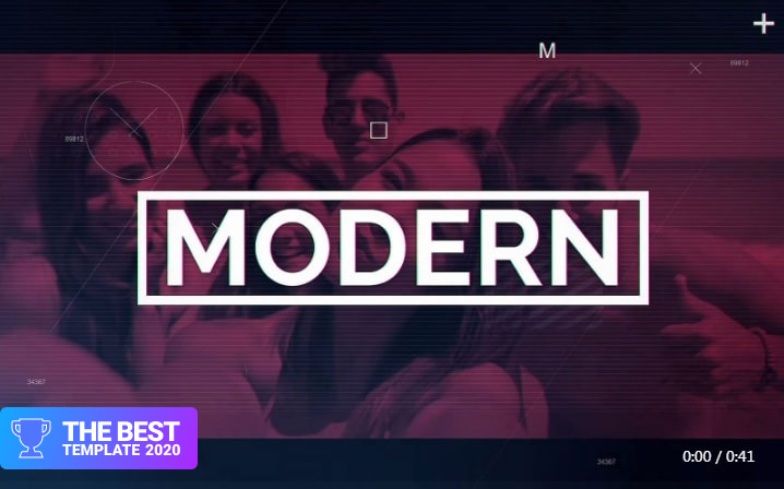 Modern Montage After Effects Template.