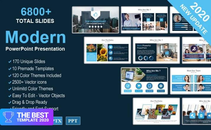 Modern Creative Presentation PowerPoint Template.