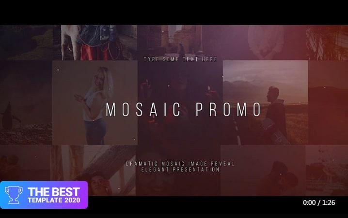 Mosaic Promo Final Cut Pro Template  - digital products award