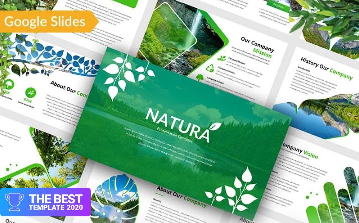 Natura – Nature Google Slides.