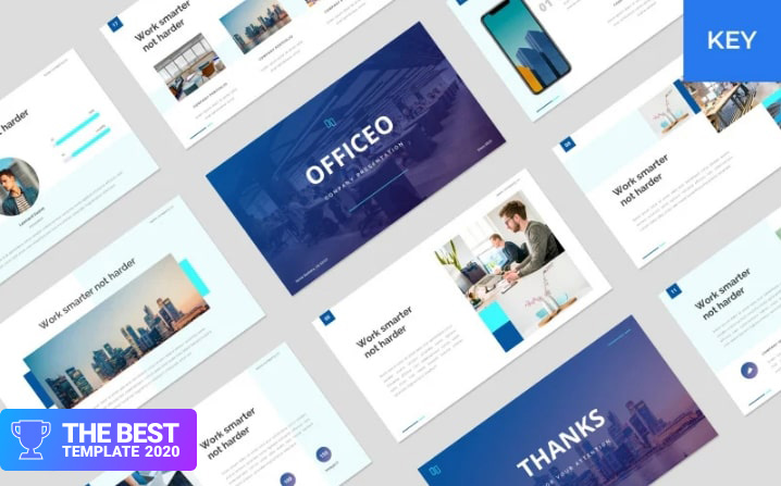 Officeo - Company Presentation Keynote Template - digital products award
