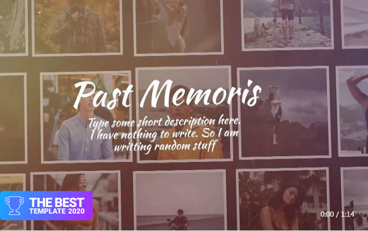 Past Memories Final Cut Pro Template - digital products award