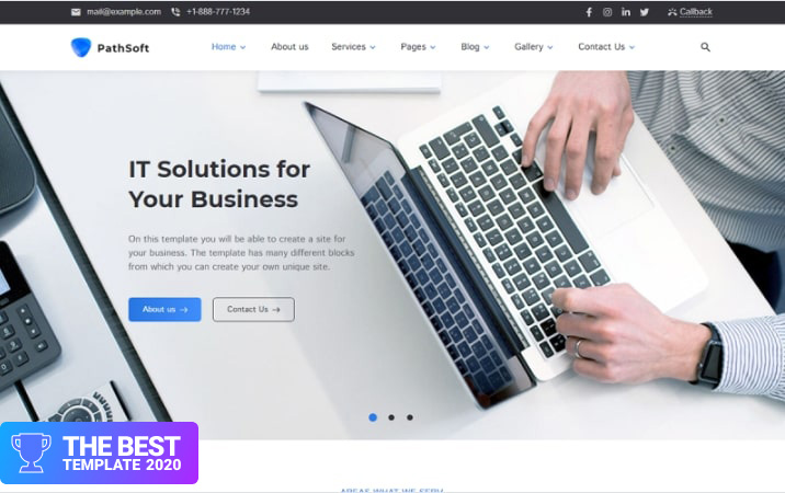 PathSoft - IT Solutions for Your Business Services WordPress Theme - best digital products