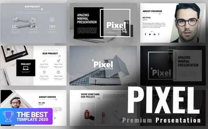 Pixel Minimal Google Slides.