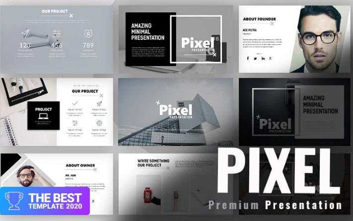 Pixel Minimal PowerPoint Template.