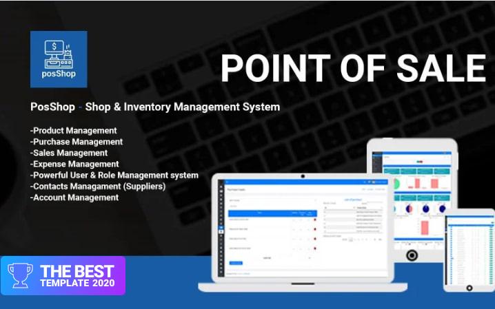 PosShop- Shop & Inventory Management System Admin Template.