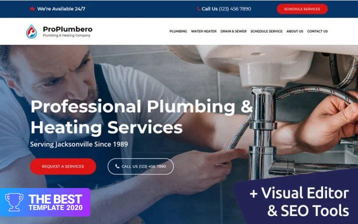 ProPlumbero - Plumbing & Heating Company Moto CMS 3 Template - digital products award