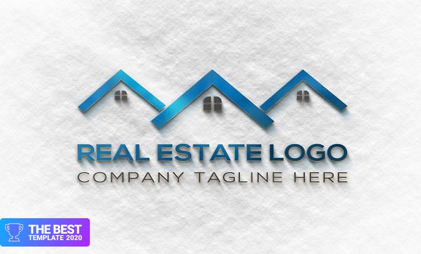 Real Estate Design Logo Template.