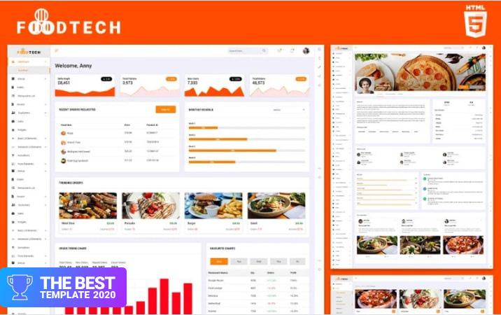 Restaurants Operation   Foodtech Admin Template.