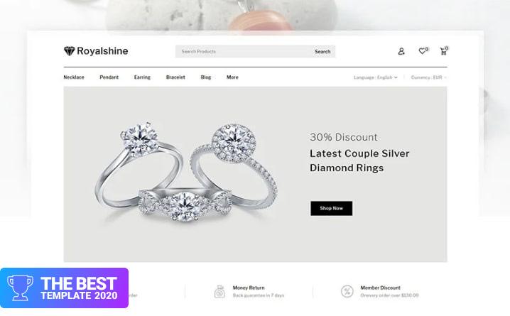 Royalshine - Jewellery Store PrestaShop Theme.