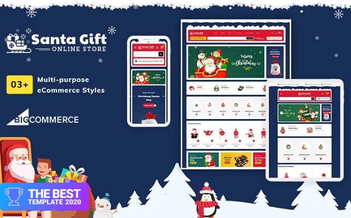 Santa Gift – Stencil Multi-Purpose Responsive BigCommerce Theme - digital products award