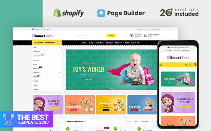 Smart Toys Store Shopify Theme.