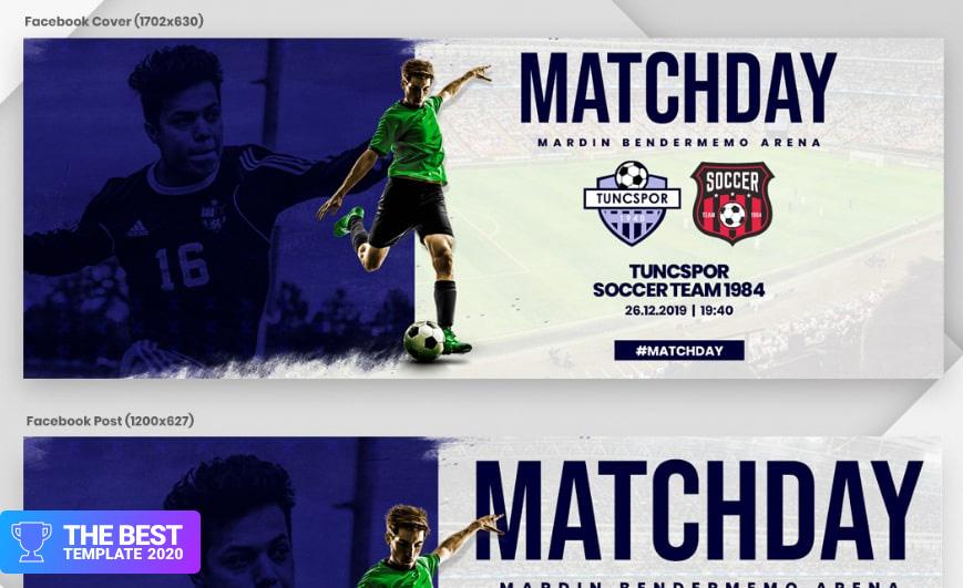 Soccer & Football Matchday Social Media - digital products award
