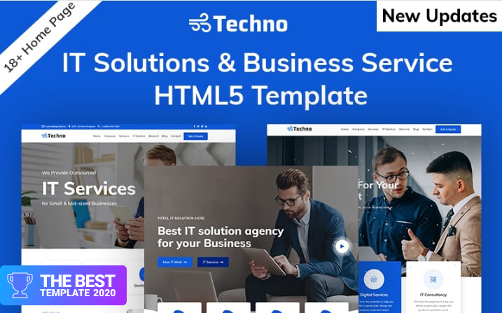 Techno-IT Solution & Business Consulting Website Template.