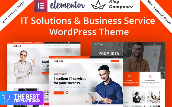 Technology & IT Solution Services WordPress Theme.