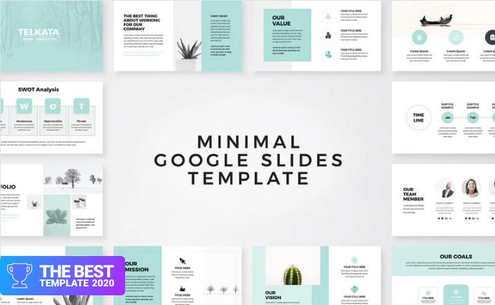 Telkata Minimal Clean Presentation Google Slides.