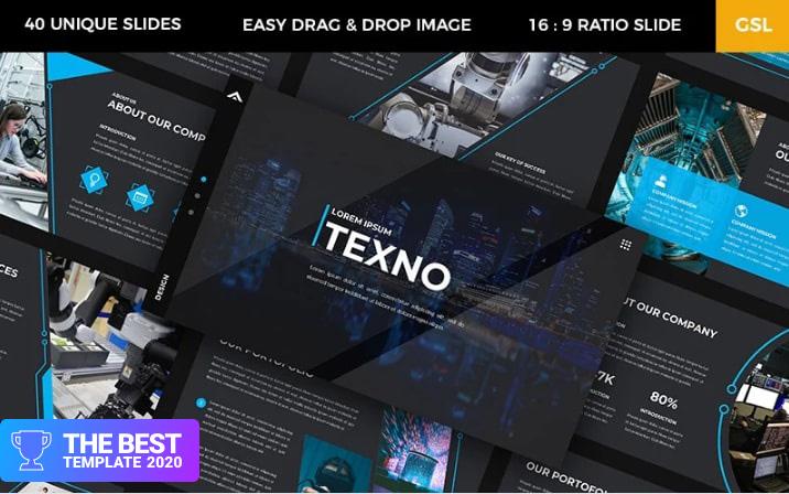 Texno – Technology Google Slides.