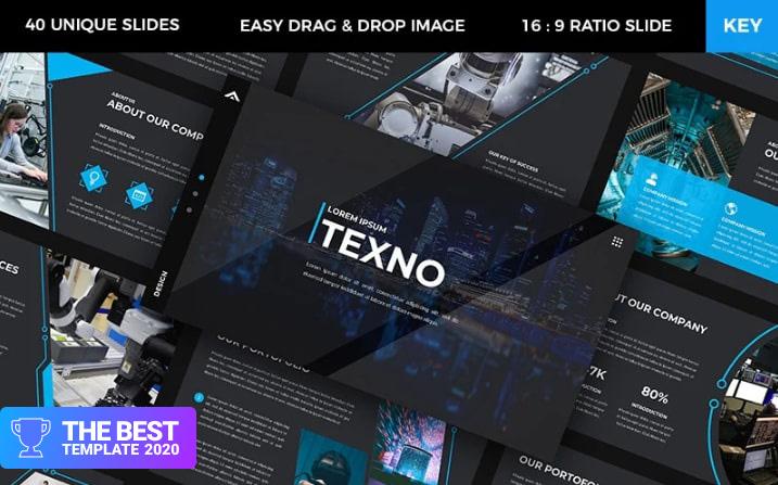 Texno - Technology Keynote Template - digital products award