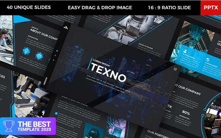 Texno - Technology PowerPoint Template.