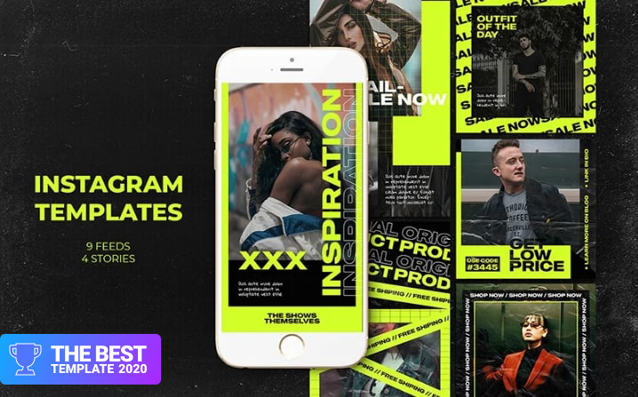 The Show Themselves Instagram Templates Social Media - digital products award
