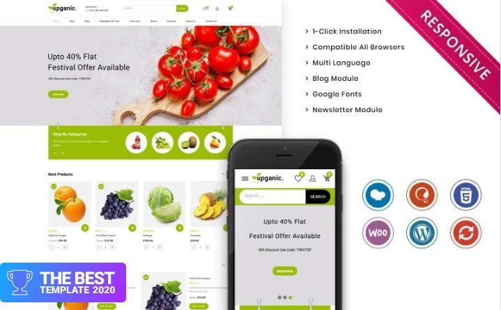 Upganic - The Mega Grocery Store Premium WooCommerce Theme best digital products