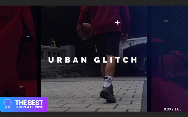 Urban Glitch Premiere Pro Template best digital products