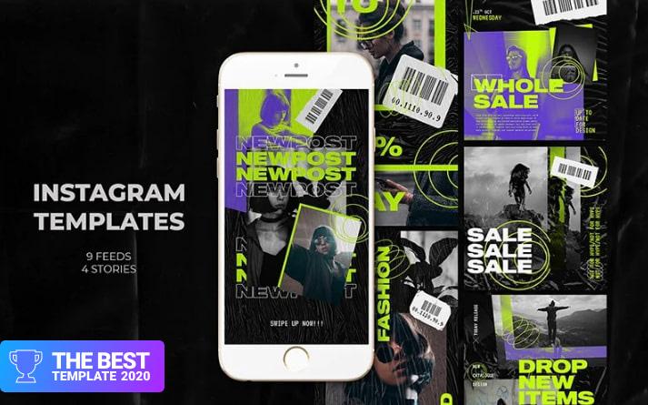 Victory Instagram Templates Social Media - digital products award