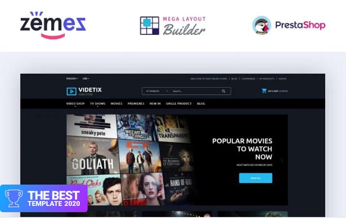 Videtix - Movies Online Store Template PrestaShop Theme.