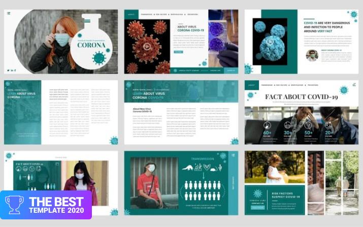 Virus Corona - Medical Health Template Google Slides  - digital products award