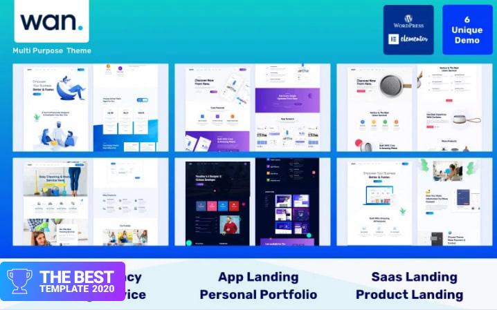 Wan - IT Software Service & Agenc WordPress Theme best digital products